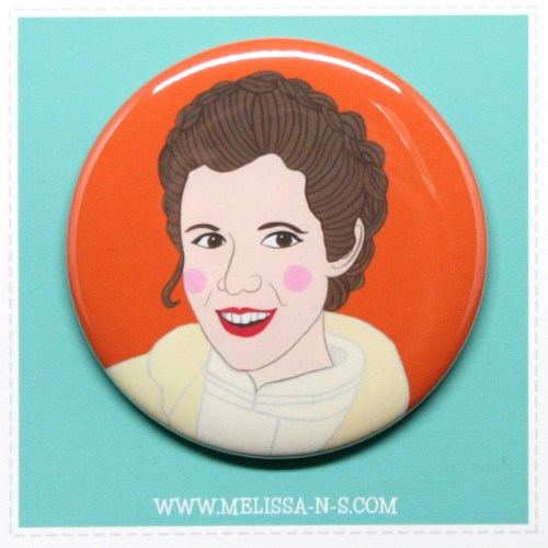 Princess Leia Button