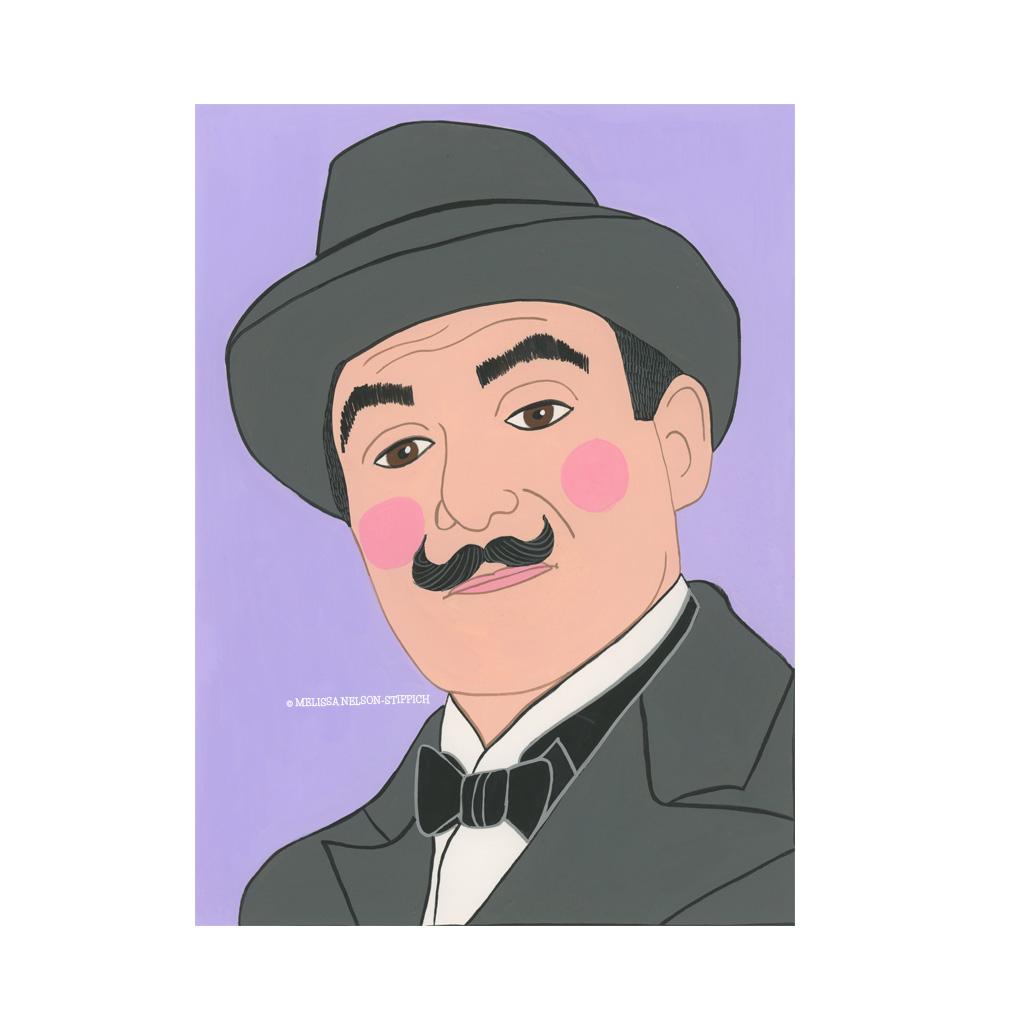 Hercule Poirot Print