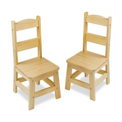 Wooden Chairs Pictures First High Chair Pair Of 2 Piece Set Solid Wood