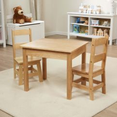 Solid Wood Childrens Table And Chairs Average Cost To Reupholster A Dining Room Chair Wooden 3 Piece Set