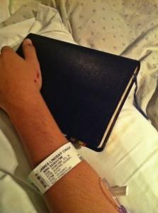Jamie in the hospital