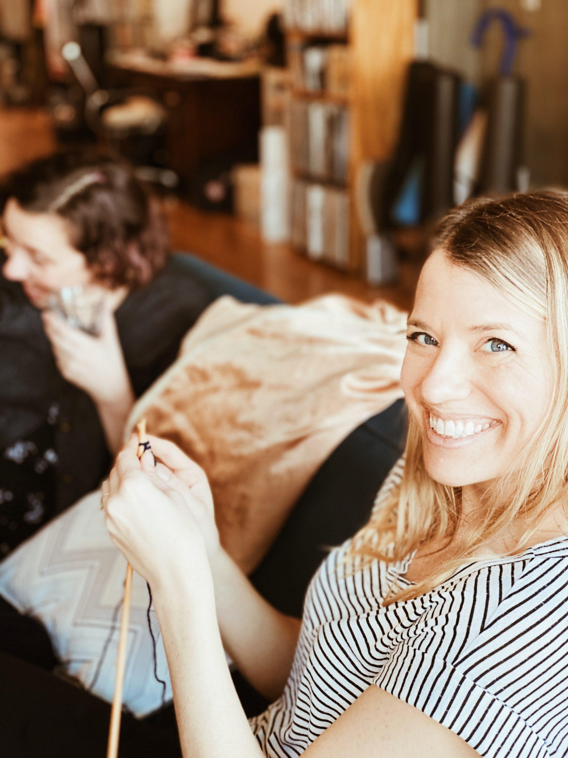ashley evins knitting at oui