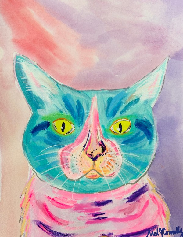 Cat Study - Rufus - Acrylic on watercolor paper