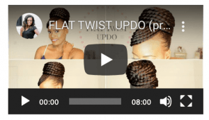 Flat Twist With Weave Hair Updo For Bridal Natural Hairstyles