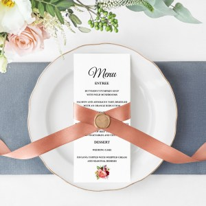 Autumn Blooms Menu Cards