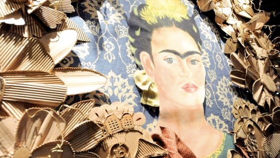 Frida Kahlo installation at Hollywood at Home Design Studio for Kerry Joyce by Melissa Judson.