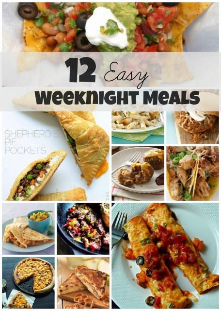 12 easy weeknight meals #foodie #sp