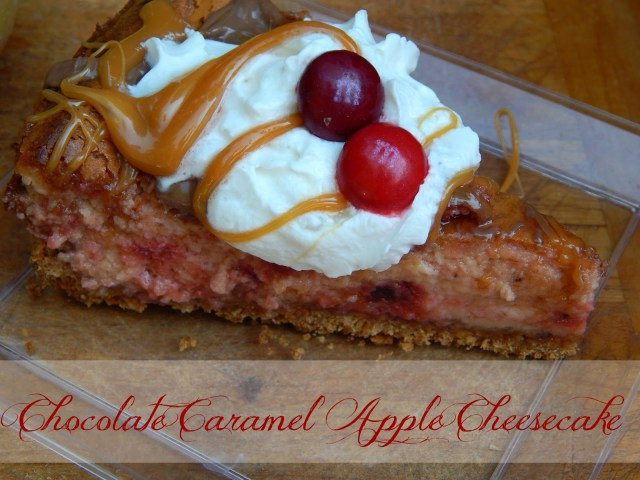 Chocolate Caramel Apple Cheesecake Recipe #flavoroffall #cbias #shop
