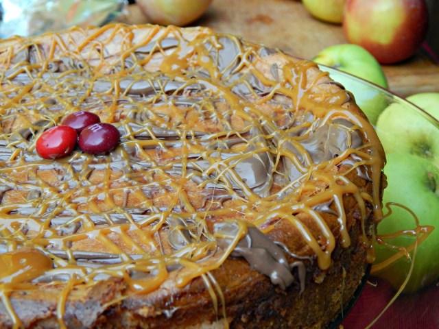 Chocolate Caramel Apple Cheesecake Recipe #flavoroffall #cbias #shop