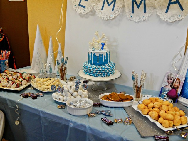 Frozen themed birthday party pictures #disneyside