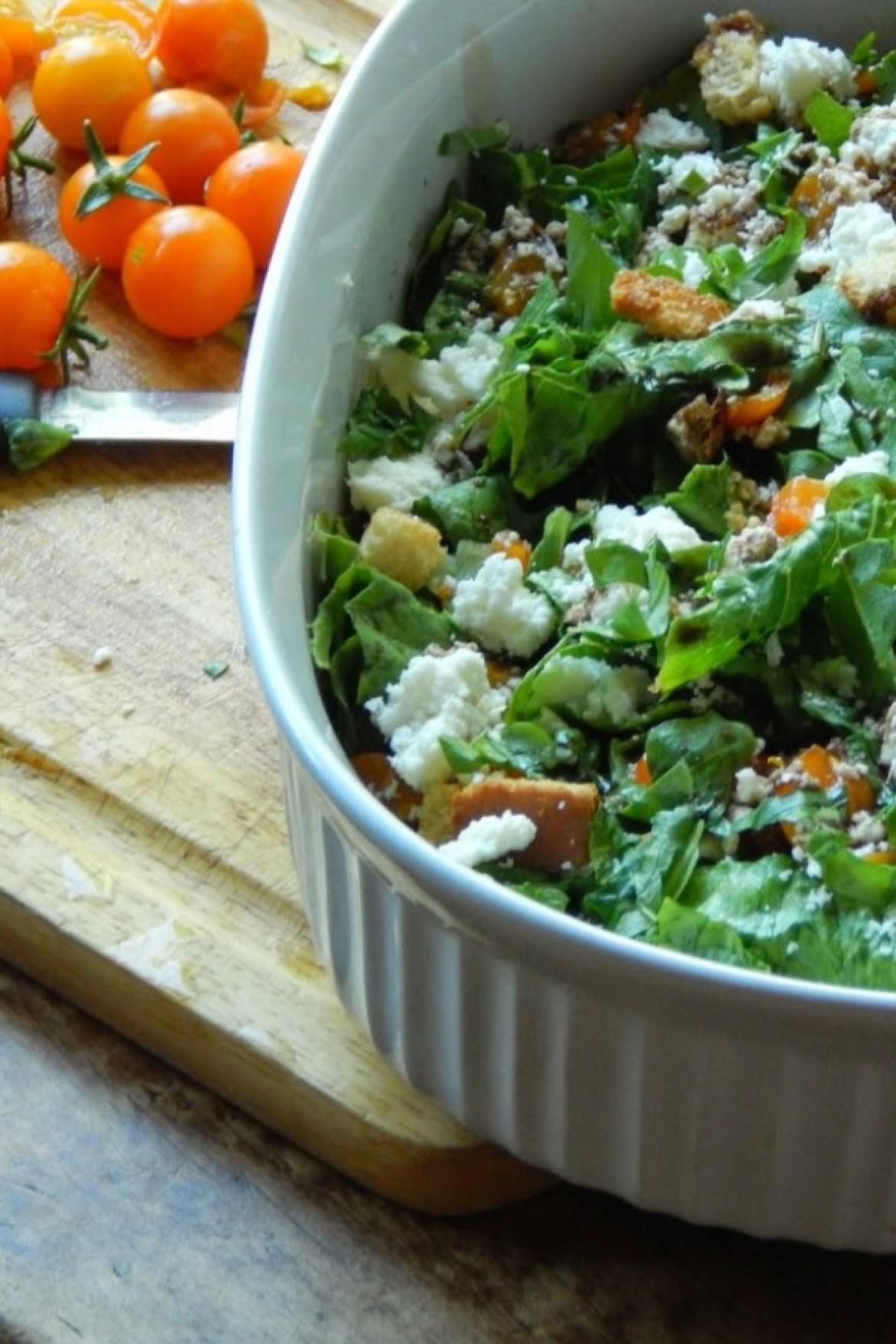 feta bruschetta salad