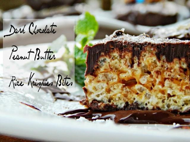 Dark Chocolate Peanut Butter Rice Krispies Treat® Bites #kreatemyhappy #ad
