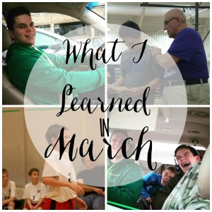 What I Learned in March 2016