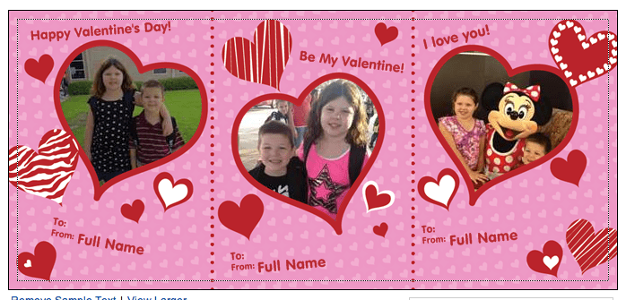 Vistaprint 30 Personalized Valentines Day Cards For FREE