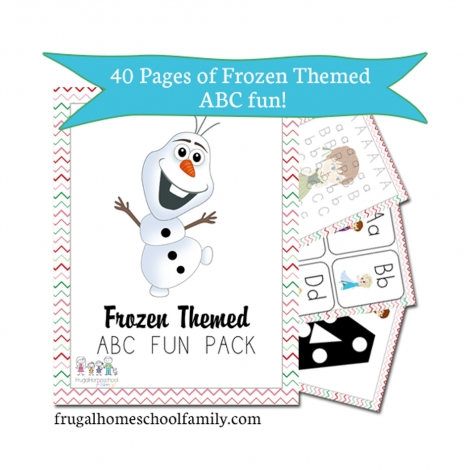 FREE Printable Frozen ABC Pack