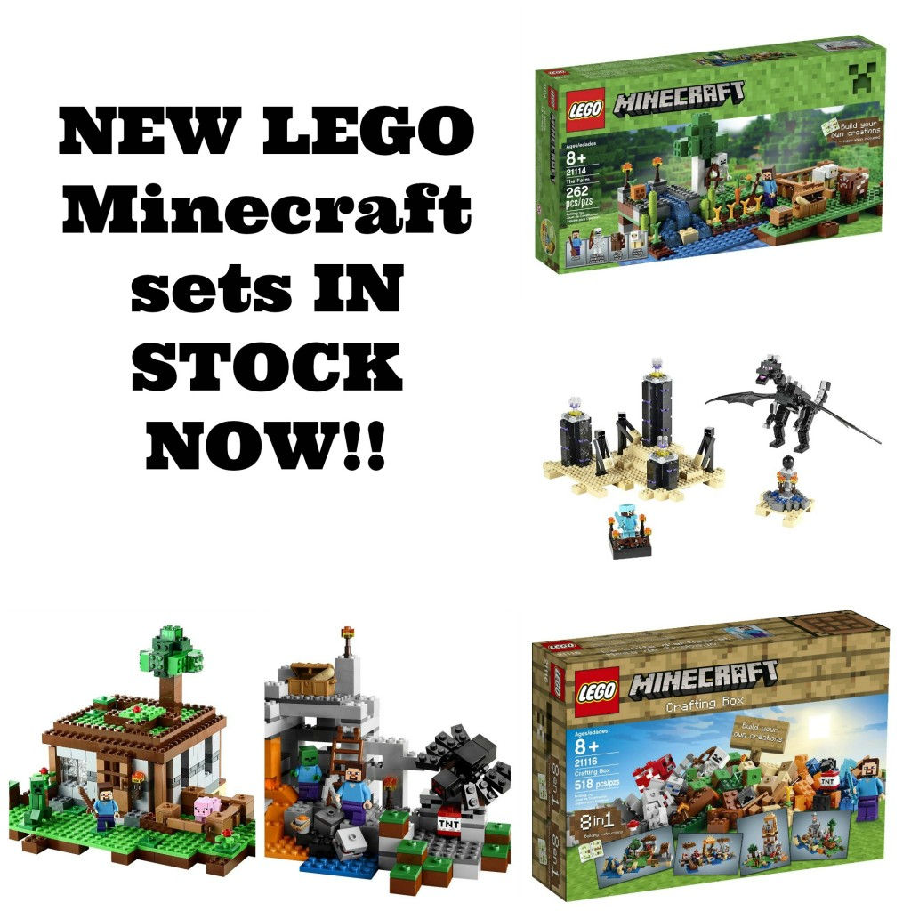 NEW LEGO Minecraft Sets Available