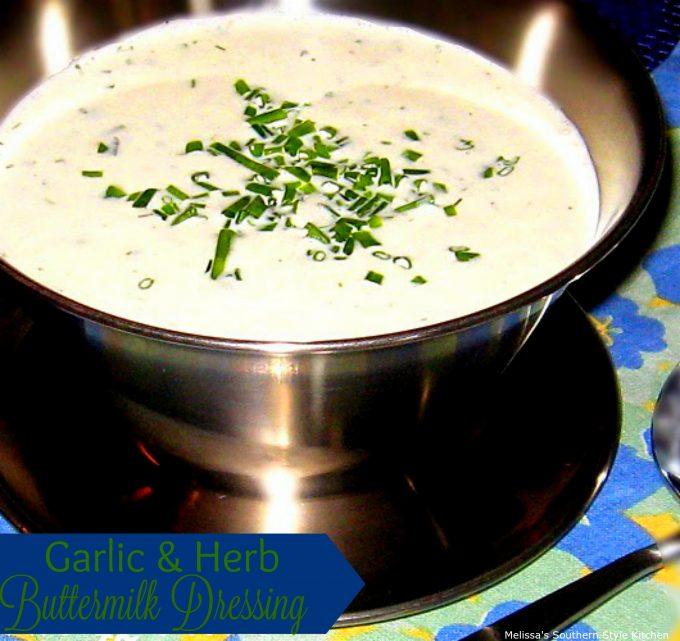 Garlic And Herb Buttermilk Dressing