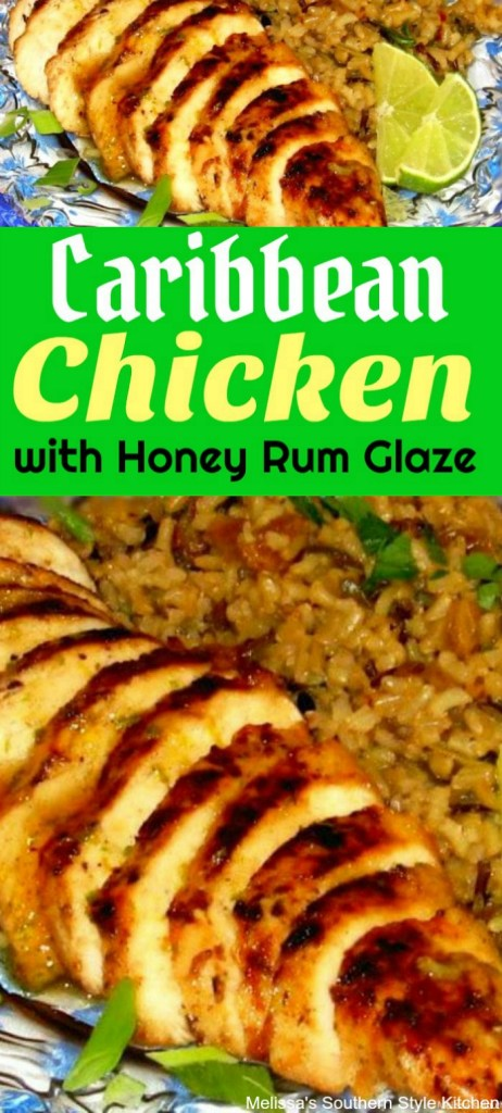 Caribbean Chicken With Honey Rum Glaze