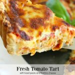 Fresh Tomato Tart with Basil Pesto and Fontina Cheese