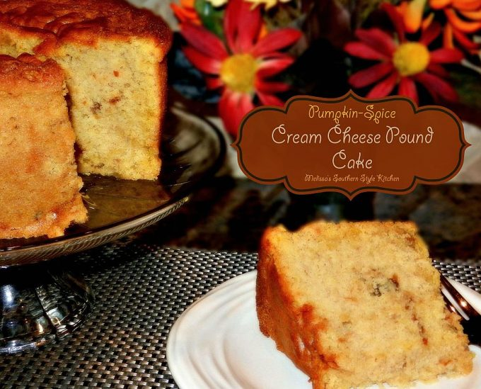 Pumpkin Spice Cream Cheese Pound Cake