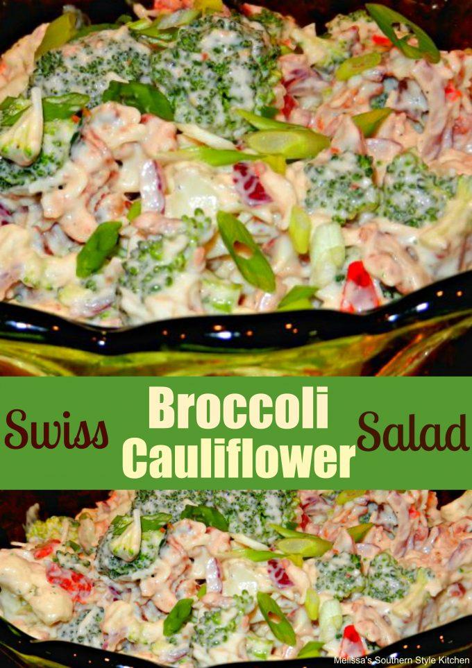 Swiss Broccoli-Cauliflower Salad