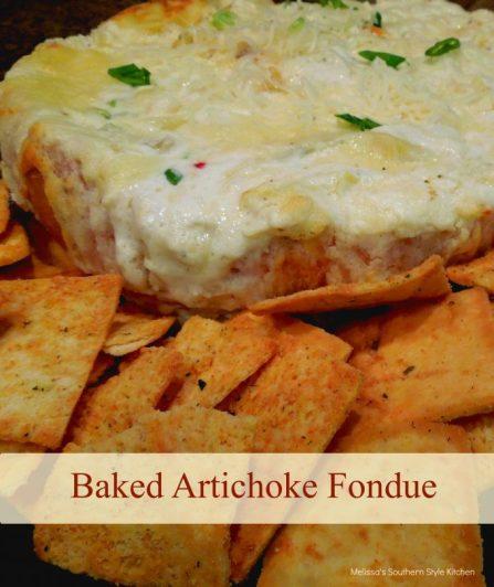 Artichoke Fondue in a Bread Bowl