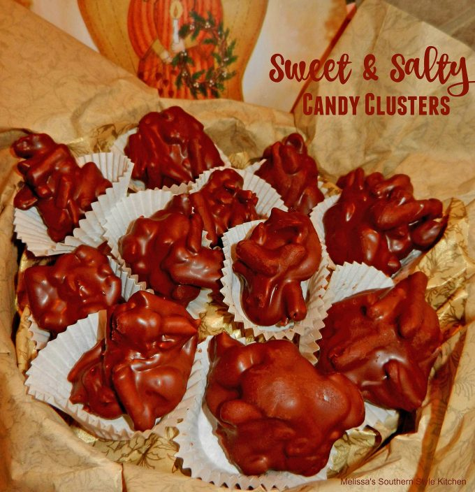 Sweet and Salty Candy Clusters