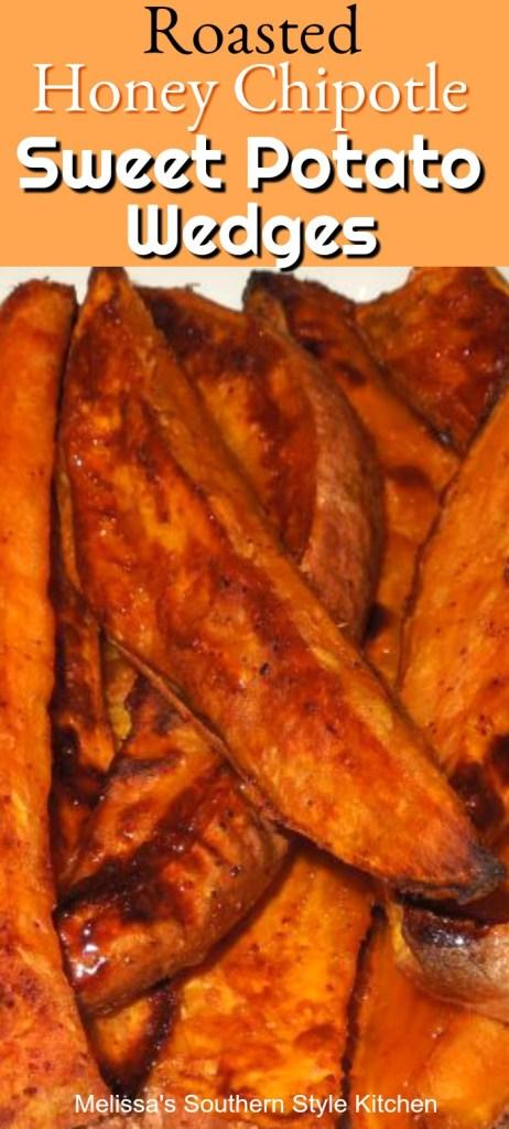 Roasted Honey Chipotle Sweet Potato Wedges