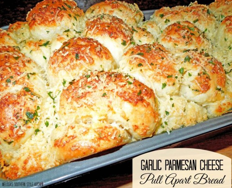 Garlic-Parmesan Cheese Pull Apart Bread [Using Rhodes Frozen Yeast Rolls]