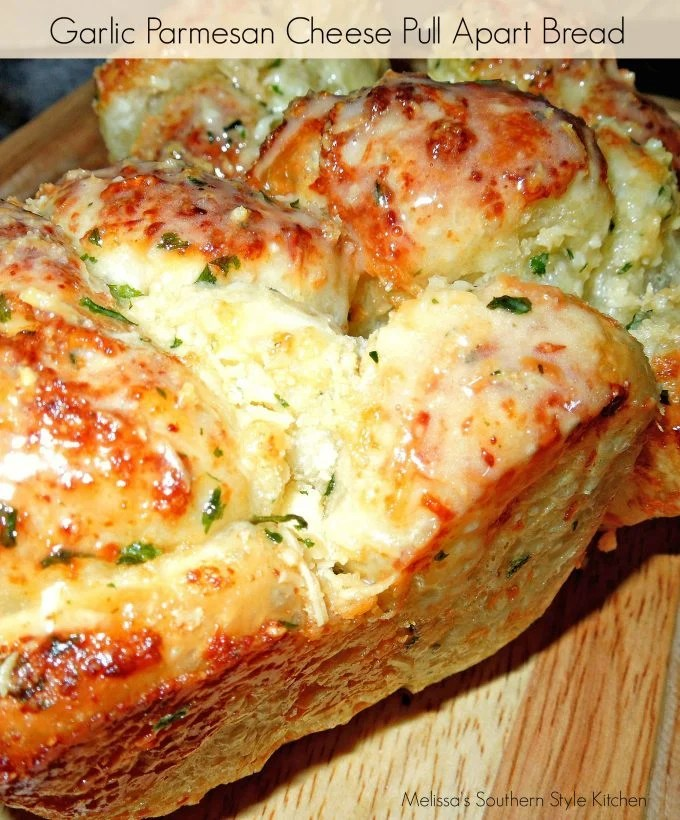 Pull Apart Garlic Bread: Garlic-Parmesan Cheese Pull Apart Bread [Using Rhodes