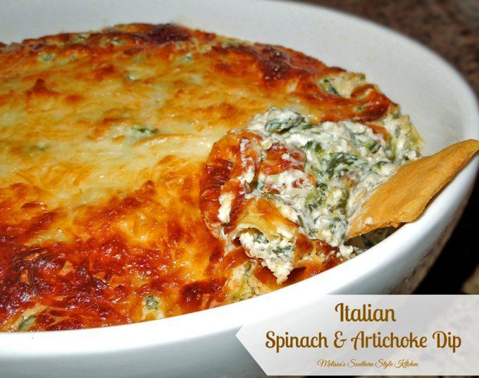 Creamy Italian Spinach And Artichoke Dip