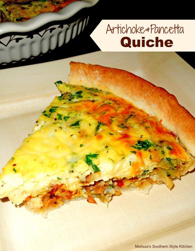 Artichoke And Pancetta Quiche