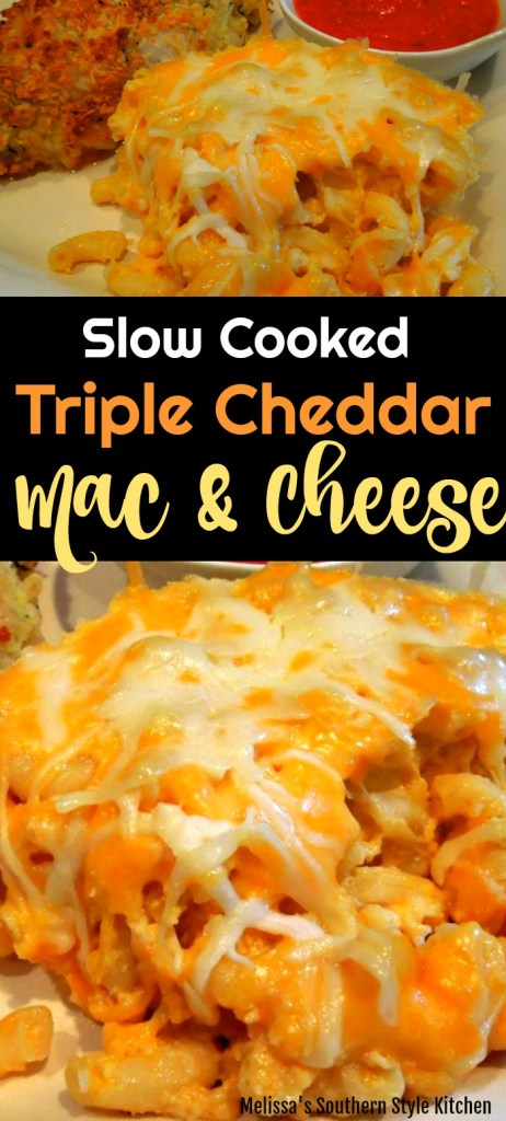 Slow Cooked Triple Cheddar Mac and Cheese
