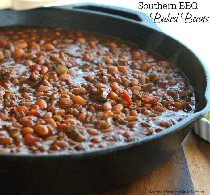 Southern Barbecue Baked Beans - melissassouthernstylekitchen com