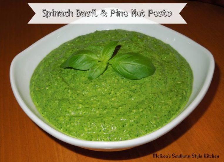 Spinach Basil And Pine Nut Pesto