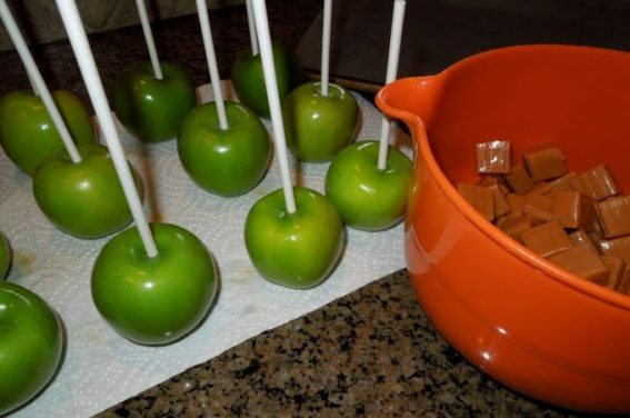 Caramel And Chocolate Dipped Apples