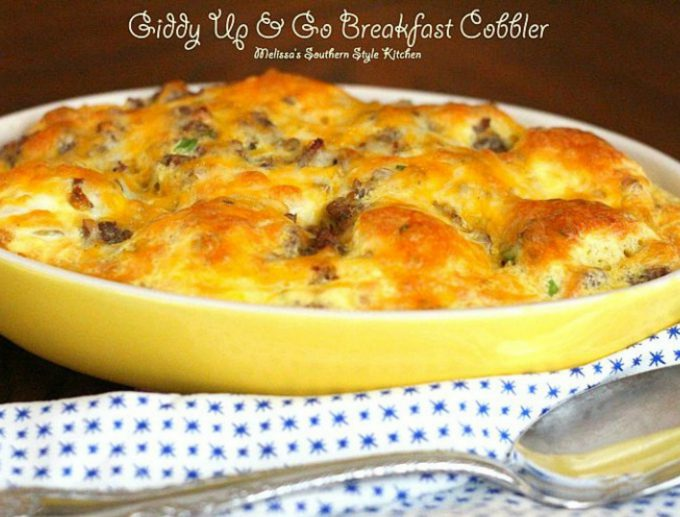 Giddy Up And Go Breakfast Cobbler