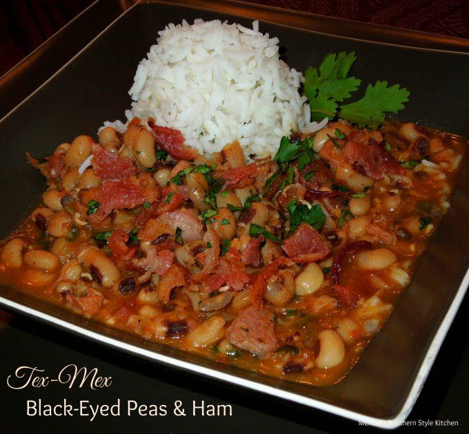 Tex-Mex Black Eyed Peas And Ham