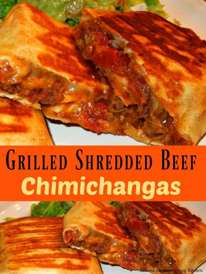 Grlled Shredded Beef Chimichangas