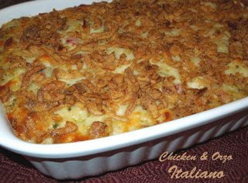 Chicken And Orzo Italiano