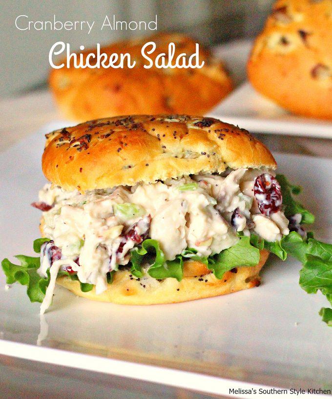 Cranberry Almond Chicken Salad Melissassouthernstylekitchen
