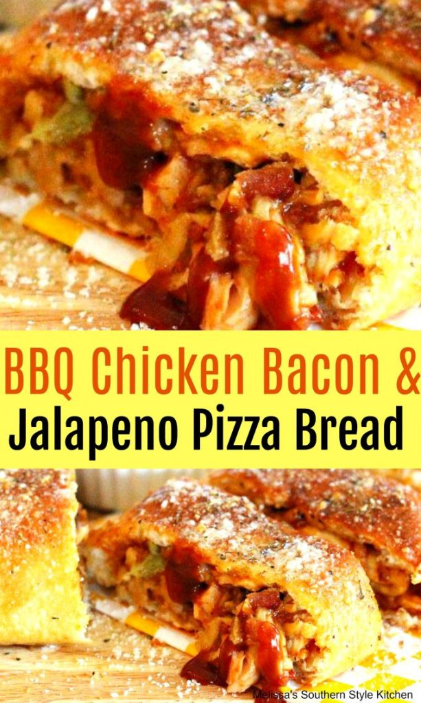 Barbecue Chicken Bacon And Jalapeno Pizza Bread