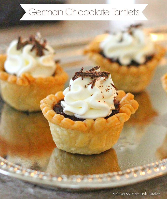 German Chocolate Tartlets