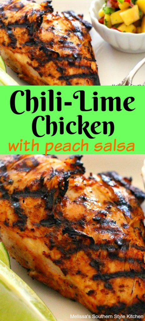 Grilled Chili-Lime Chicken And Peach Salsa