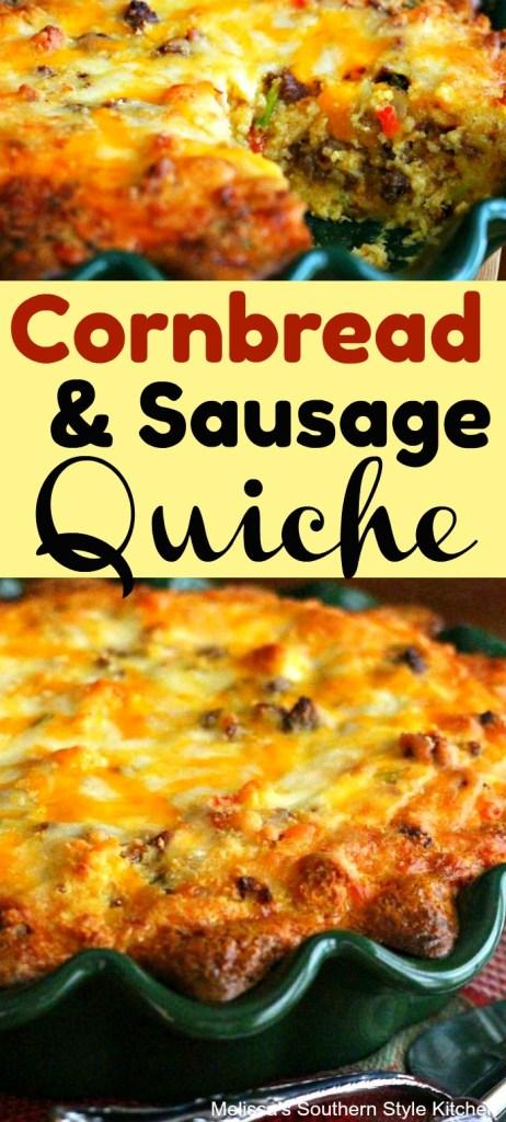 Cornbread and Sausage Quiche
