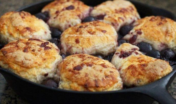 Skillet Cherry Pie Biscuits