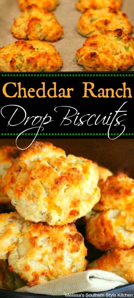 Cheddar Ranch Drop Biscuits