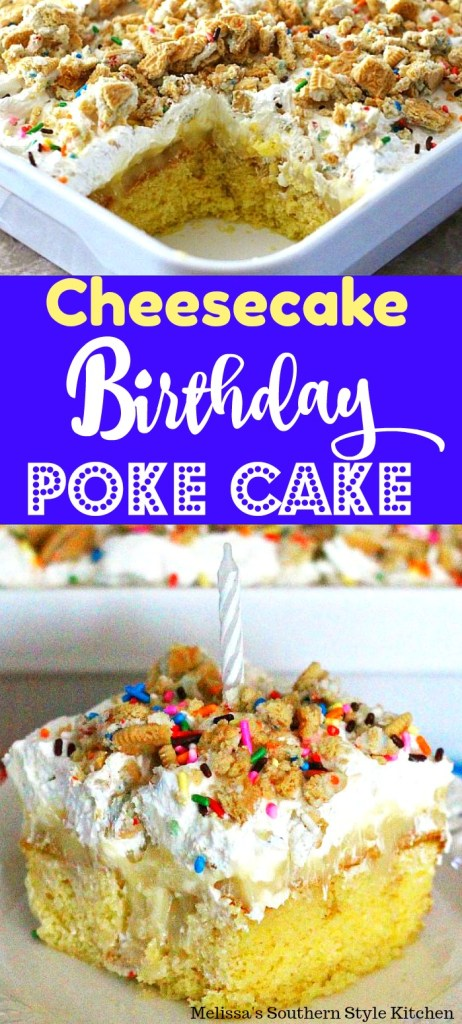 Cheesecake Birthday Poke Cake