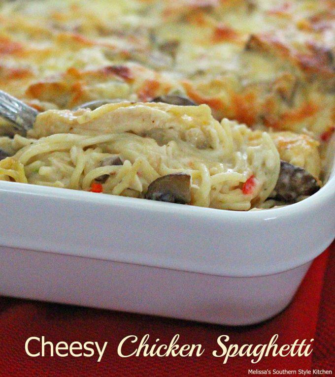 Cheesy Chicken Spaghetti