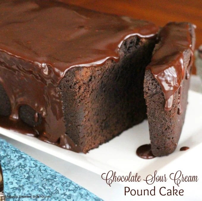 Chocolate Sour Cream Pound Cake